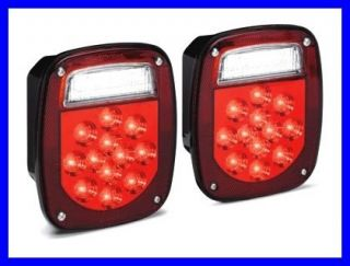 KC HiLites LED Lamp Light Jeep Trailer Tail Light inc Back Up Pair 2