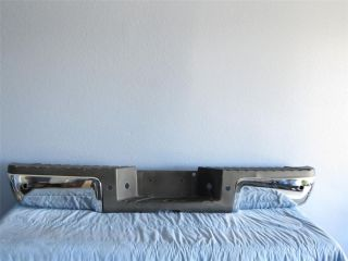 FORD F250 F350 SUPER DUTY REAR BUMPER USED CHROME W O SENSORS HOLES