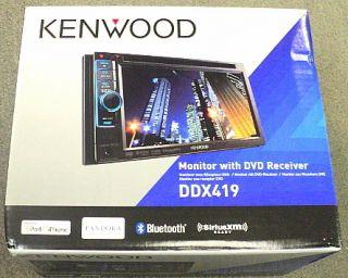 New Kenwood DDX419 in Dash 6 1 Double DIN Touchscreen CD DVD Receiver