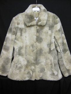 Elegant Coldwater Creek Faux Fur Parka Coat Jacket Large Mint