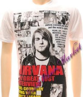 Nirvana Kurt Cobain Rock 1967 1994 Alternative T shirt Sz L Tour
