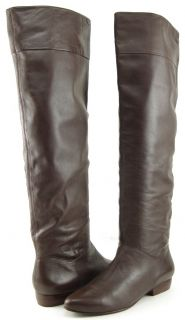 POUR LA VICTOIRE MALORIE Brown Leather Womens Designer Knee High Boots