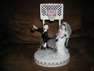 New Los Angeles Lakers Basketball Wedding Cake Topper