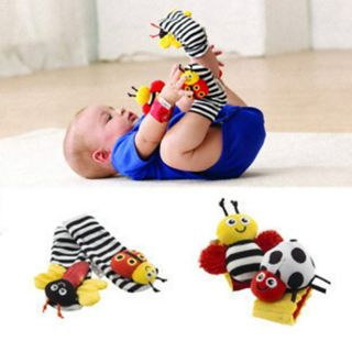 Lamaze Baby Toys High Contrast Wrist Socks Rattles Hands Foot Finder 4