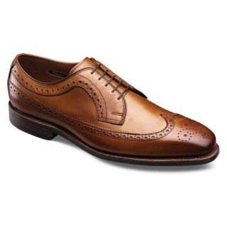 Allen Edmonds Mens Larchmont Walnut Brown Wingtip Lace Up Oxfords