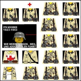 Lego WW2 Africa Korps German Soldiers Decals Afrika tan LEGO