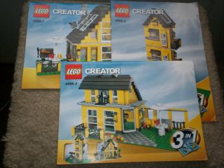 Complete Set All 3 Lego Creator 4996 Beach House Instructions Booklets