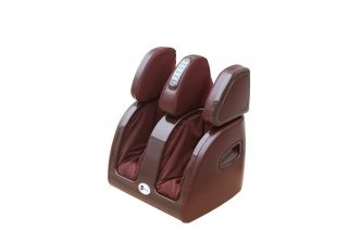 Burgundy Relaxing Leg Calf Knee Ankle Massager w Heat Therapy Calves