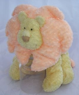 Russ Berrie Baby Plush Yellow Leon Lion Rattle Toy 10
