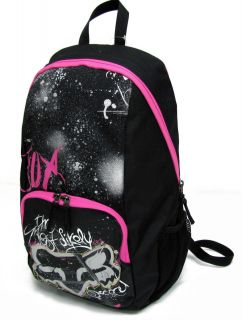 Fox Black Pink Silver Most Likely to Succeed Backpack School Book Bag