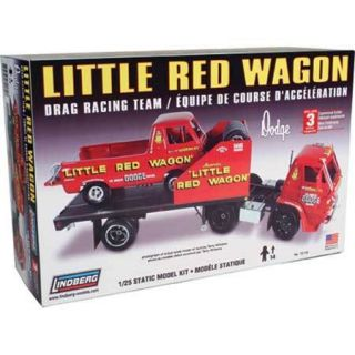 Lindberg 1 25 Little Red Wagon Drag Racing Tea LND72170