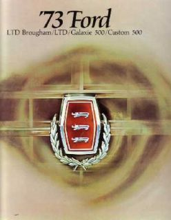 1973 Ford Galaxie Sales Brochure Literature Book