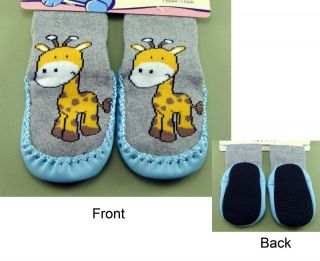 Baby Slipper Socks Moccasins Non Slip Grip Newborn Infant Todd