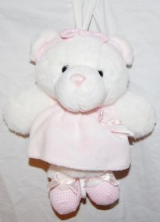Little Me Musical Teddy Bear Plush Baby Crib Toy Pink