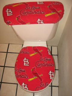 St Louis Cardinals Red Toilet Seat Cover Set