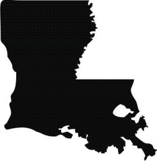 Louisiana State Outline Silhouette Vinyl Decal Sticker