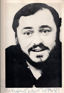 Luciano Pavarotti in Person Autograph Signed Program 1981 Opera San