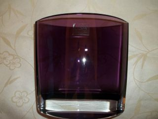 LSA International Poland Mouth Blown Purple Art Glass Vase