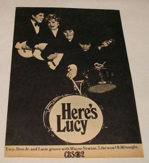 1968 CBS TV Ad Heres Lucy Lucille Ball