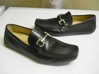 Salvatore Ferragamo Parigi Black Leather Drivers Mocassin 9 EE