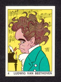 Ludwig Van Beethoven 1973 Panini Sticker from Italy