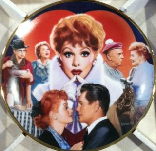 Lucille Ball I love Lucy Hamilton Collection Plate   Morgan Weistling