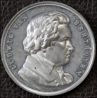 Ludwig Van Beethoven Composer RARE 1885 Medal