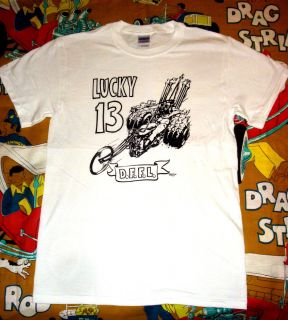 Old Stock Lucky 13 DFFL Chopper T Shirt Hot Rod Drag Race Ed Big Daddy