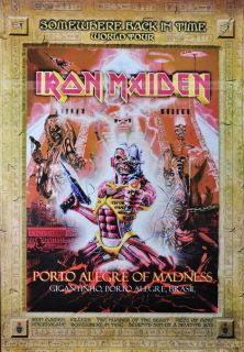 Iron Maiden Golden Rock Metal Band Poster World Tour