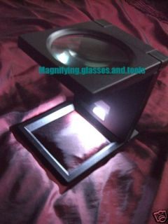 Large LED Magnifying Glass Magnifier Stand Hands Free