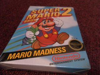Super Mario Bros 2 Nintendo 1988 New NES Mario Brothers 2