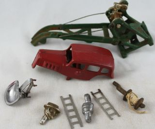Lot of 8 Cast Iron Toy Truck Car Parts Arcade AC Williams