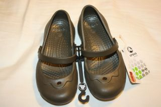 Brand New Authentic Crocs Brown Alice Mary Janes Toddler Kids Size 12