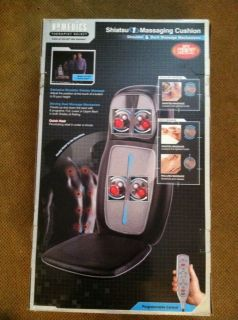 Homedics Shiatsu Shoulder & Back Massage Cushion W/ Heat & Remote (SBM