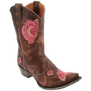 New Old Gringo Brass Pink Leather Marsha 10 Western Boots 7 5
