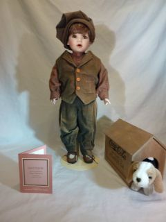 Franklin Mint Coca Cola Brand Doll Matthew A Boy and His Dog