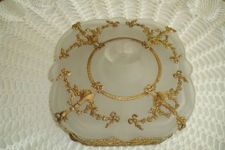 Antique Vintage Huge French Art Nouveau Jewelry Casket Box Flawless