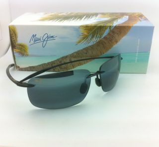 Authentic Maui Jim Sunglasses Breakwall MJ 422 02 63 13 Black w