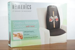 HoMEDiCS Shiatsu Massage Cushion with Heat CP 198200 Deep Kneading