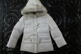 European Mayoral Sport Girls Puffy Coat Off White Sz 6 116