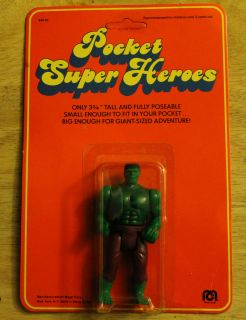 Vintage Mego Pocket Super Heroes Hulk Action Figure MOC