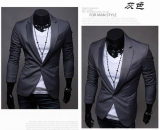 New Mens Dress Suit Top Blazer Jackets for Wedding 1 Button M XXL X06