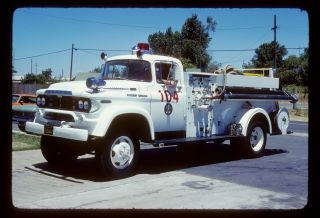 Merced County CA 1959 Dodge Power Wagon 4x4 pumper Kodachrome color