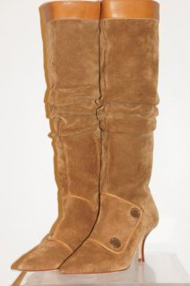 Michael Kors New Womens Brown Suede Leather Knee High Boot Boots Size
