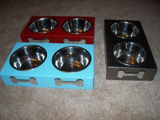 Custom Metal Dog Bowl Dish Feeder Personalized
