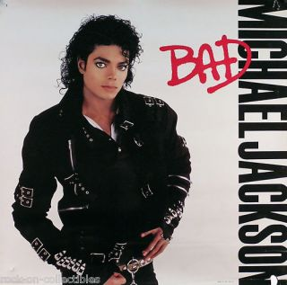 Michael Jackson 1987 Bad Square Promo Poster
