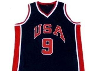 Michael Jordan Team USA Jersey Blue New Any Size
