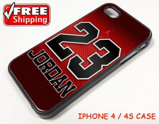 Michael Jordan NBA Chicago Bulls Nike Air iPhone 4 4S Case Apple Phone