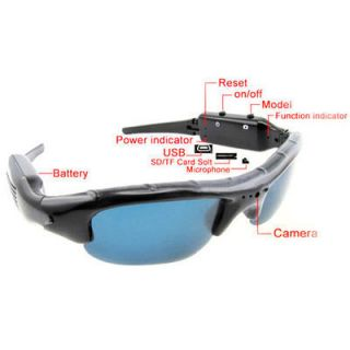 Mini DVR Spy Sunglasses Camera Audio Video Recorder DV HIDDEN CAMERA