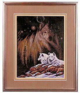 Wolves Wolf Face Janlynns Counted Cross Stitch Just A Chart